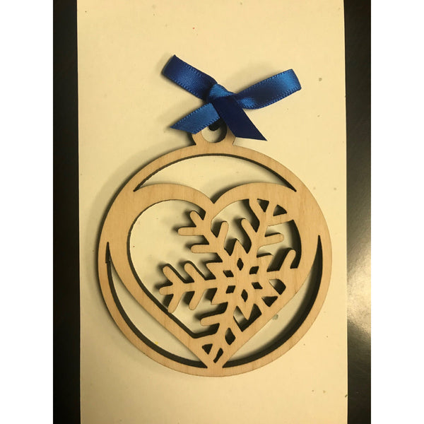 Snowflake Heart Ornament