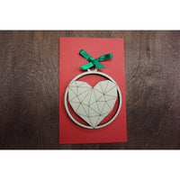 Geometric Heart Ornament
