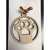 Cat Paw Print Ornament