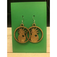 Pineapple Circle Earrings
