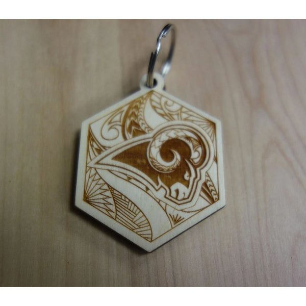 Rams Inspired Tribal Keychain