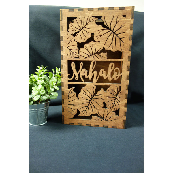 *RENTAL* Mahalo card box, Tall Rectangle