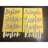 *CUSTOM ORDER* Wood Cut Names, SMALL