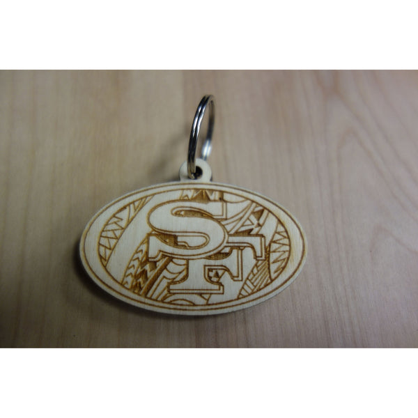 SF Niners Inspired Tribal Keychain