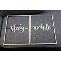 Rectangle Stay Awhile Panels, Set of 2