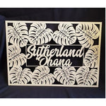 *CUSTOM ORDER* Monstera Leaf Rectangular Plaque