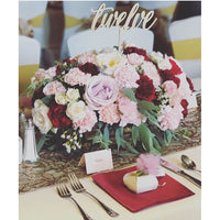 *RENTAL* Table Numbers, Wooden Script Sticks