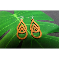 Koa Wood Mauka to Makai Triangle Earrings