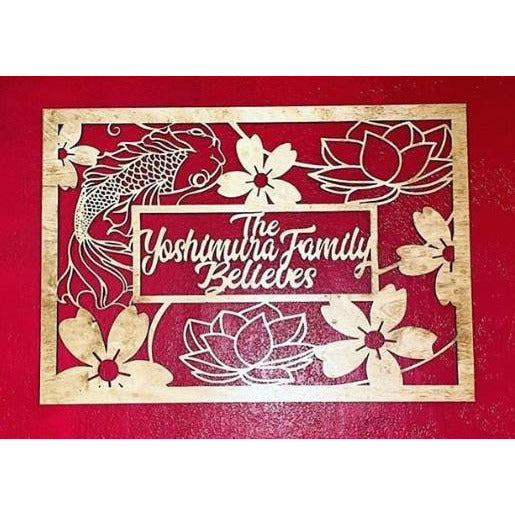 *CUSTOM ORDER* Koi Fish Family Plaque