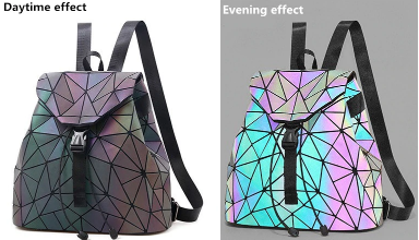 Geometric Backpack Luminous Reflective Holographic Laser School Bags