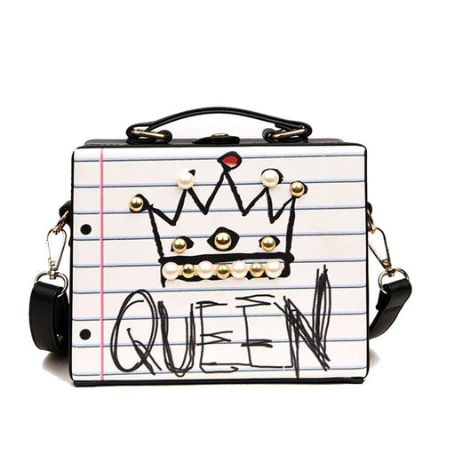 2019 Fashion Queen Doodle Graffiti Box Shoulder Bag - 2019 Fashion Queen Doodle Graffiti Box Shoulder Bag