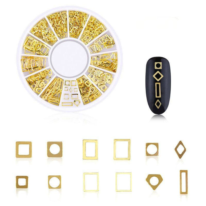3D Hollow Golden Nail Stickers-Boots N Bags Heaven