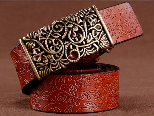 Fancy and Luxurious Floral Belt-Boots N Bags Heaven