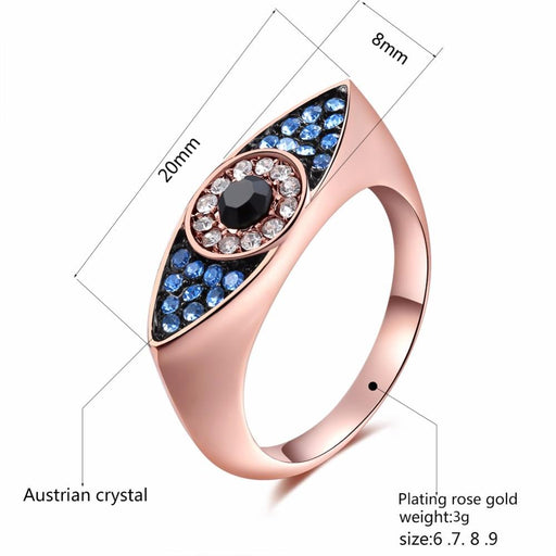 Accessories Fancy Dazzling Blue Eyes Ring - Fancy Dazzling Blue Eye Ring