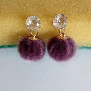 Accessories Fancy Rabbit, Fox, And Cat Enamel Brooches - Sweet And Dainty Fur Ball Earrings