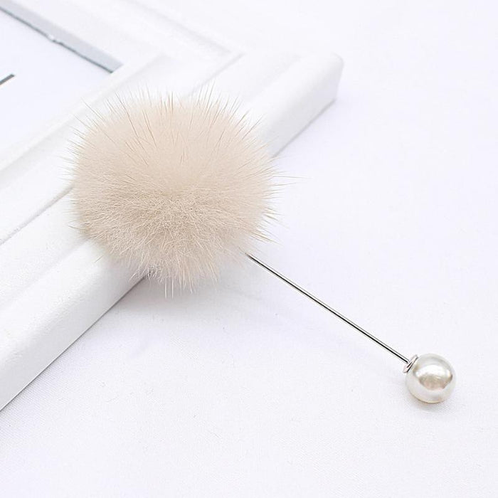 Sweet and Dainty Pearl and Pompom Brooch-Boots N Bags Heaven