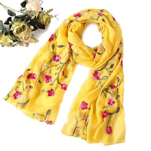 Accessory Scarf Beautiful Spring Floral Scarf - Beautiful Spring Floral Scarf