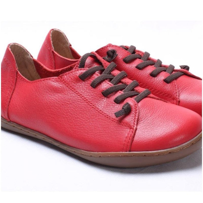 Authentic Leather Plain Toe Shoes-Boots N Bags Heaven
