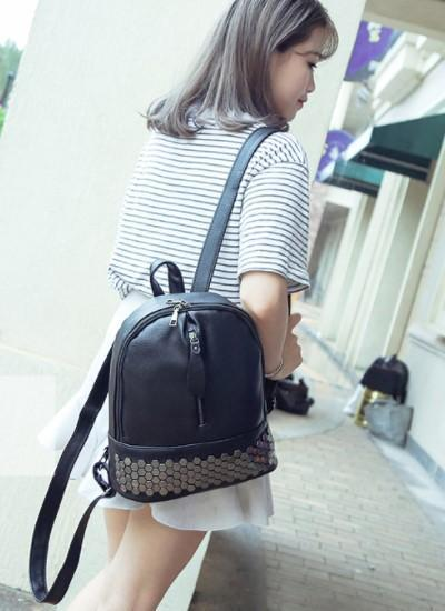 Preppy Style Leather Backpack-Boots N Bags Heaven