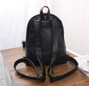 Backpacks - Preppy Style Leather Backpack