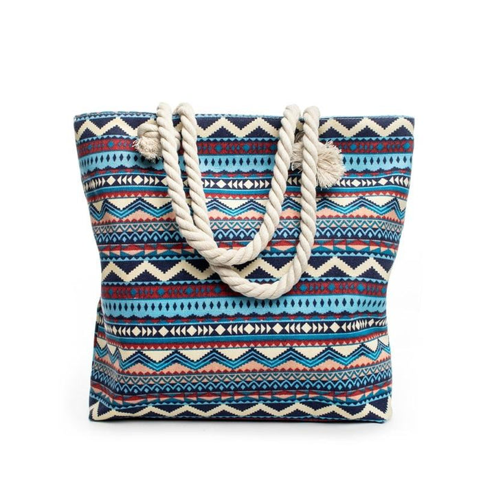 Bohemian Style Summer Shoulder Beach Bag-Boots N Bags Heaven