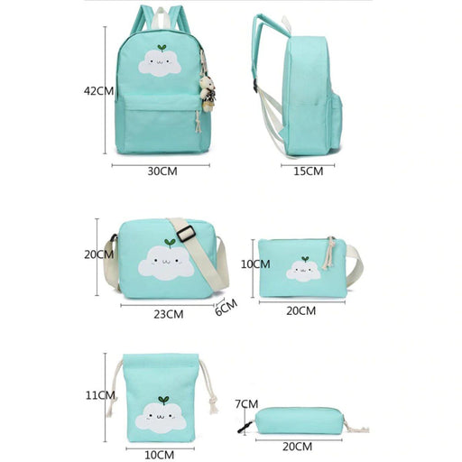 Bags 5 In 1 Cute Cloud Rucksack Bag Set - 5 In 1 Cute Cloud Rucksack Bag Set