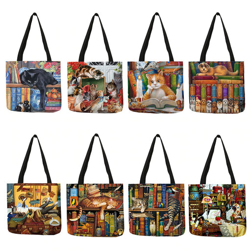 Bags Classic Paint Print Cats Reusable Tote Bag - Classic Paint Print Cats Reusable Tote Bag