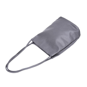 Bags - Large Casual Leather Bucket Bag