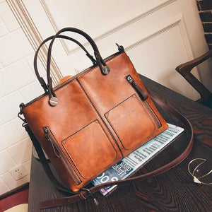 Bags - Large Vintage Style Leather Bucket Bag
