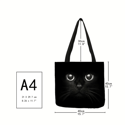 Bags Monochrome Reusable Kitty Cat Tote Bags - Monochrome Reusable Kitty Cat Tote Bags