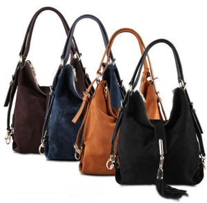 Bags - Portable Suede Hobo Bag