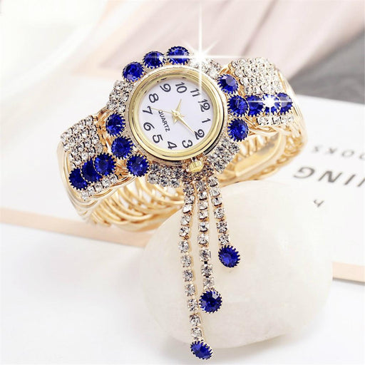 Bejeweled Rhinestone Bracelet Watch - Bejeweled Rhinestone Bracelet Watch