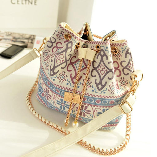 Bohemian Drawstring Bucket Bag-Boots N Bags Heaven