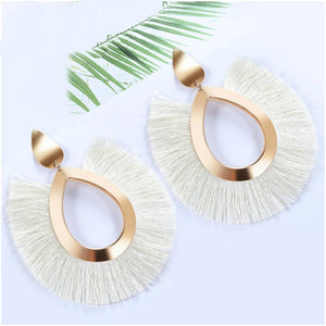 Bohemian Chic Tassel Fringe Fan Earrings - **FREE** Bohemian Chic Tassel Fringe Fan Earrings