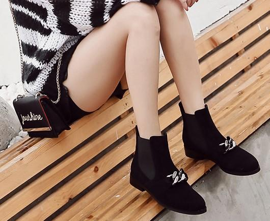 Classic Black Ankle Boots-Boots N Bags Heaven
