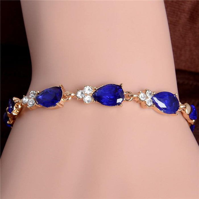 Beautiful Water Drop Link Bracelet-Boots N Bags Heaven