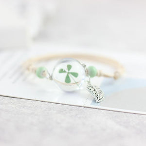 Bracelet Handmade Glassed Lucky Wildflowers Bracelet - Handmade Glassed Lucky Wildflowers Bracelet