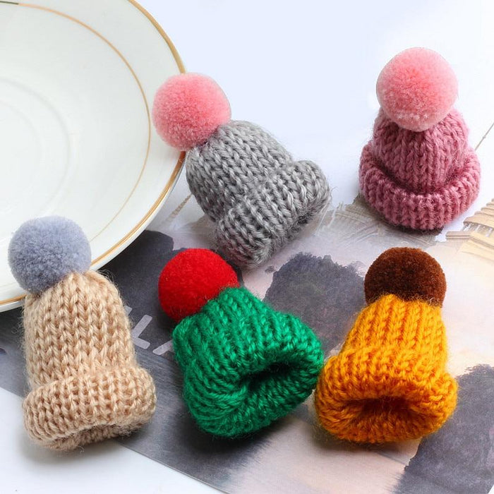 Winter Little Knitted Beanie Brooch-Boots N Bags Heaven