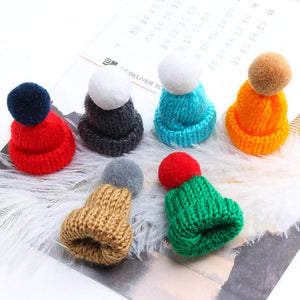 Brooch Jewelry Winter Little Knitted Beanie Brooch - Winter Little Knitted Beanie Brooch