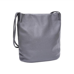 Buckets Bags - Large Casual Leather Bucket Bag