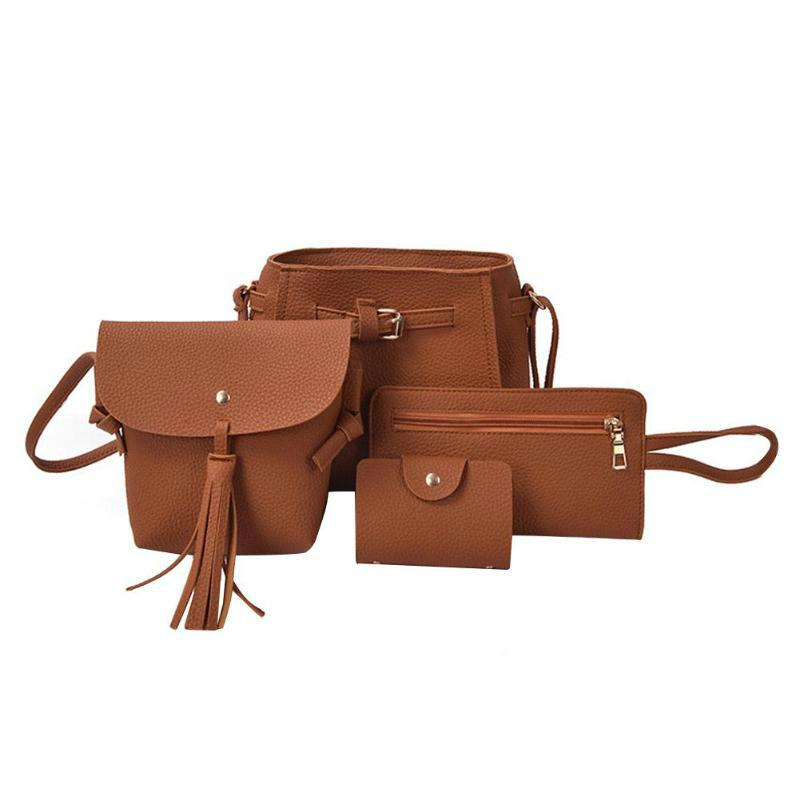 Buckets Casual Leather Bag Set - Casual Leather Bag Set