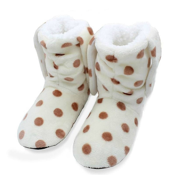 Bunny Ears Winter Indoor Slippers-Boots N Bags Heaven