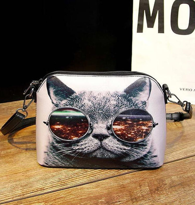 Cool Cat Leather Handbag-Boots N Bags Heaven