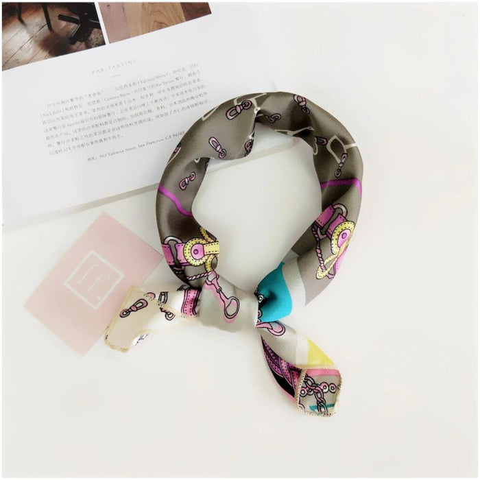 Chic Square Scarf Multi Way Head Tie and Neck Scarf-Boots N Bags Heaven