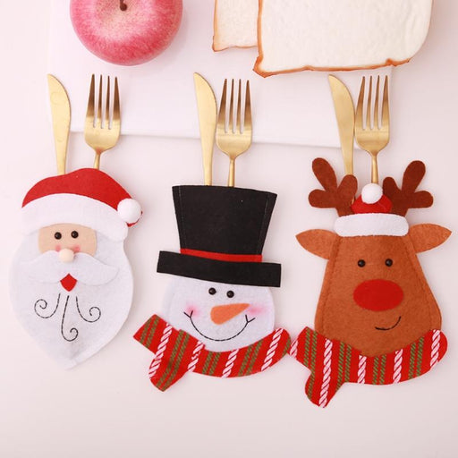 Christmas Christmas Cute And Funny Utensil Pocket Sets - Christmas Cute And Funny Utensil Pocket Sets