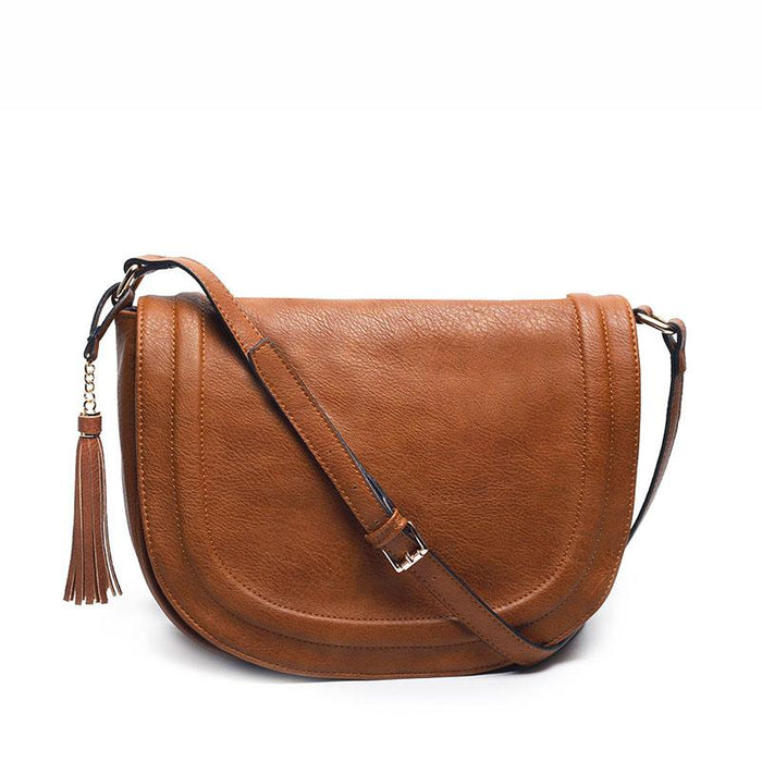 Classic Saddle Cross Body Bag-Boots N Bags Heaven