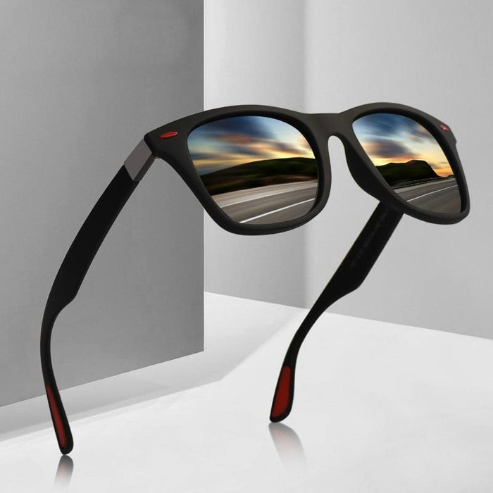 Classic Square Frame Polarized Sunglasses-Boots N Bags Heaven