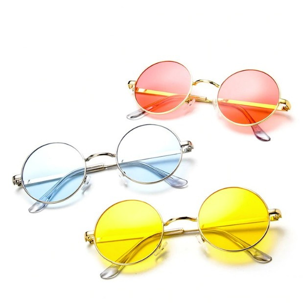 Colored Round Retro Glasses-Boots N Bags Heaven