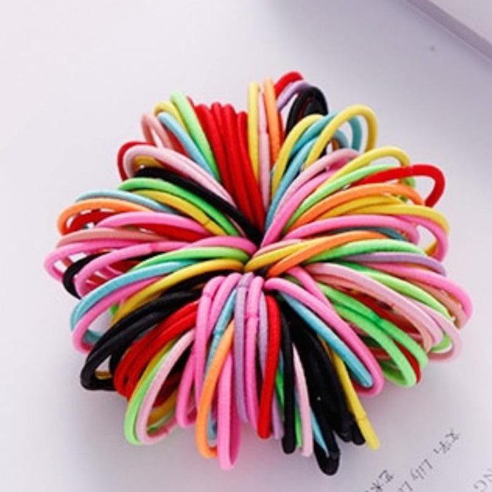 Colorful Elastic Hair Bands-Boots N Bags Heaven