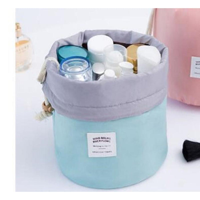 Barrel Shaped Travel Cosmetic Bag-Boots N Bags Heaven